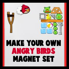 Make your own set of Angry Birds magnets! You'll find templates and directions here. Put them on a cookie and sheet and use for math manipulatives!