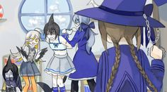 Samekichi's wearing wadanohara clothes! XD