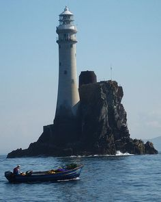 Fisherman at the Fastnet Rock, the most southerly point of Ireland