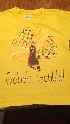DIY thanksgiving shirt with fabric paint