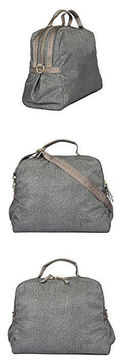 Borbonese Bags. Borbonese Women's 934213296P43 Grey Polyester Handbag.  #borbonese #bags #borbonesebags