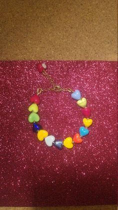 Check out this item in my Etsy shop https://www.etsy.com/uk/listing/572928497/love-bracelet-murano-glass-heart-beads
