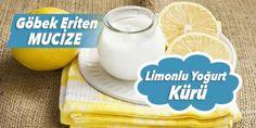 Göbek eriten yoğurtlu kür:  4 dal maydanoz ve 4 dal dereotunu incecik doğrayın. Bir adet limonun suyunu ve 250 gram yoğurdu ekleyip iyice karıştırın. Bu harika kürü, haftada 2 kez uygulayın. Gece uyumadan 3 saat önce ara öğün olarak tüketin.