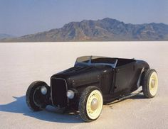 Is there anything more American than a roadster on the flats?