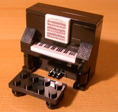 Custom Fun Black Piano Lego Gift Set for Town City Train Music Teacher Musician | eBay