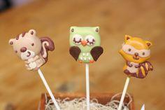 Woodland Creature Cake Pops | by Sweet Lauren Cakes