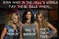 Now who in the hells gonna pay these bills. Ones drinking ones smoking ones takin pills