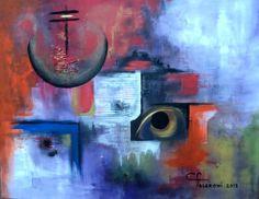 Pintura. Artista Maria Cristina Faleroni Titulo de la Obra: Iluminando cielos.