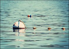 Nautical Photograph Boating Buoys Floating in