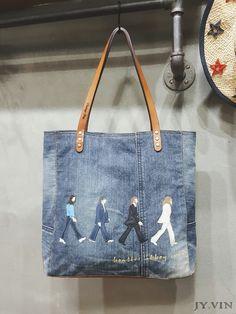 [자요빈] 감성빈티지샵 청바지리폼 업사이클링가방