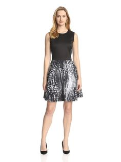 Katherine Barclay Women's Fit-and-Flare Dress,