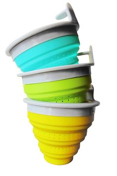 #TheTeaSpot #Steeped Stacked Tuffy Tea Steepers in turquoise, key lime, & lemon! My favorite tea gadget. I use it nearly every day. It beats taking a teapot to my daughter's house when I babysit.