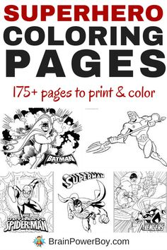 If you are looking for free printable Superhero Coloring Pages you have to see this roundup! Over 175 pages to print and color. Antman, Aquaman, Avengers . . .