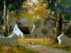 Artwork of Tony de Freitas exhibited at Robertson Art Gallery. Original art of more than 60 top South African Artists - Since Anton, Farmhouse Artwork, Canvas Painting Projects, Book Page Art, Tree Artwork, Acrylic Artwork, South African Artists, Amazing Paintings, Landscape Artwork
