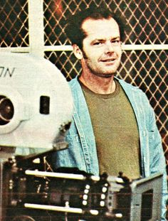 Jack Nicholson on the set of One Flew Over the Cuckoo's Nest (1975).
