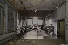 Themes: abandoned asylum, abandoned old mental institution, creepy horror photography, abandoned hospital