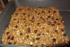 Homemade granola bars.  This recipe is a hit with kids and adults. Kids may easily mistake them as a cookie, but with oats, wheat bran and applesauce they are wholesome and filling. Best of all they are easy to make, and kids can participate!  visit www.leaveboredombehind.com for the recipe