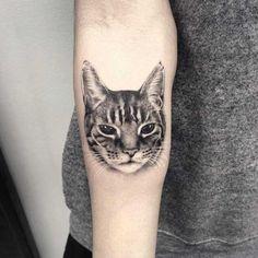Hyper-Realistic Cat Tattoo
