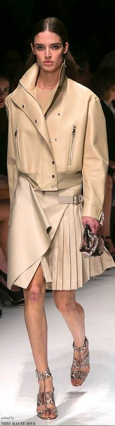 Salvatore Ferragamo Spring 2014 (The Fashion Show) using the combination of pleats and basic skirt
