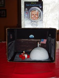Ben and Katelyn: Ben's Neil Armstrong Diorama