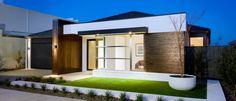 Fachada de casa moderna un nivel