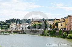 Arno river and surroundings in Florence, Italy, Europe