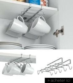 rail de rangement pour suspendre mugs et tasses