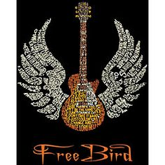 T-shirt was created using the classic song 'Freebird' by Lynyrd Skynyrd Short-sleeve shirt is dye and discharge printed on the highest quality material 100-percent cotton shirt has an extra soft feel