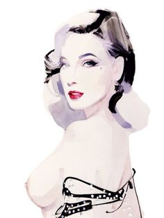 Illustrator David Downton is the master of capturing fashion's beauty in brushstrokes.