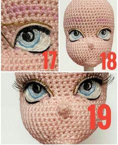 crochet toys and dolls Crochet Cow, Crochet Eyes, Crochet Doll Pattern, Easy Crochet Patterns, Amigurumi Patterns, Amigurumi Doll, Plush Dolls, Crochet For Kids, Knitted Dolls