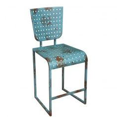Sarreid Authentic Replicas Counter Chair in Blue Set of 2 SA-28648