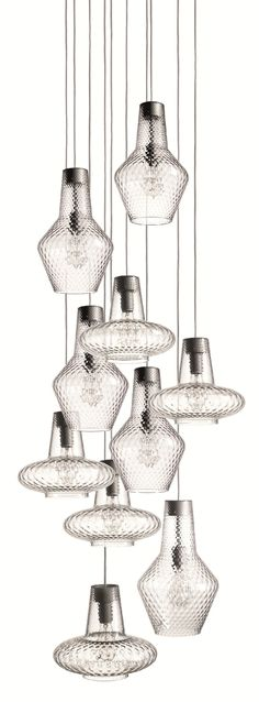 Blown glass pendant lamp ROMEO E GIULIETTA - FEDERICOdeMAJO