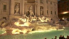 Rome& Trevi fountain starts flowing after renovation - BBC News Paris In October, Trevi Fountain, Bbc News, City Lights, Mount Rushmore, Rome, Mountains, World, Travel