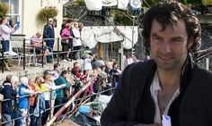 Aidan Turner gets to work on Poldark in Devon as filming comes to halt
