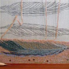 Tommye Scanlin. Sketch behind the warp.