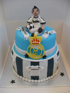 Tiered Real Madrid Ronaldo football cake