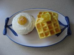 Egg and Waffle Cupcakes