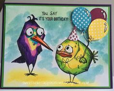 Sweet Irene's Inspirations: Tim Holtz - Crazy Birds Birthday Card