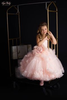 """Distant Dreamer"" dress by Anna Triant Couture Couture flower girl and special occasion dresses Little Girl Gowns, Gowns For Girls, Girls Dresses, Dress For Girl Child, Première Communion, Wedding Flower Girl Dresses, Flower Girls, Princess Costumes, Pageant Dresses"