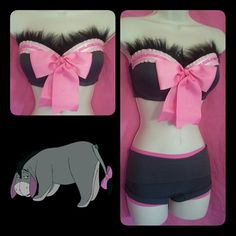 FREE SHIPPING Eeyore inspired rave bra/ costume by LostGirlsOutlet, $80.00