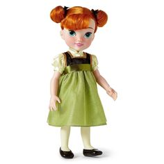 DISNEY STORE ANIMATORS COLLECTION ANNA TODDLER DOLL FROZEN - 16""