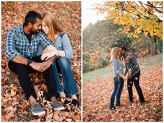 Fall engagement photos at the Hoyt Arboretum by Katy Weaver