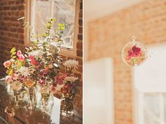 Kristin And Cory's Heartfelt Sutton Forest Wedding--I Love love love the hanging flower.!!
