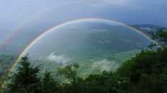 A double rainbow from Chestoa View along the Blue Ridge Parkway.