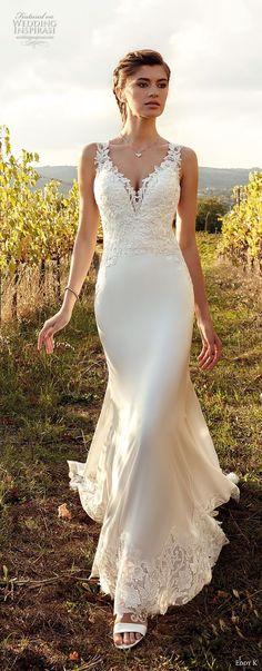 eddy k 2019 ek sleevless thick strap v neck heavily embellished bodice elegant sheath wedding dress (14) mv -- Eddy K. 2019 Wedding Dresses #wedding #weddings #bridal