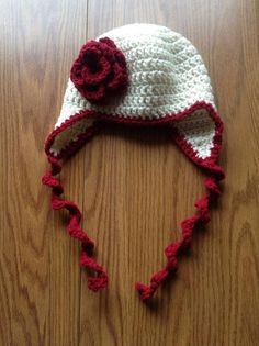 Crochet Baby Girl Valentine Winter Hat