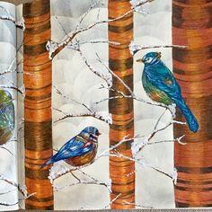 Detalhes 2 dos passarinhos.