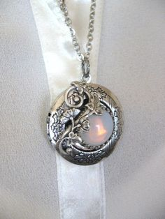 Moon LOCKET Enchanted Forest Locket Enchanted by CharmedValley, $29.00
