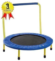 "Portable & Foldable Trampoline - 36"" Dia. Durable Construction Safe for Kids with Padded Frame Cover and Handle / 1 Year Warranty - Yellow GYMENIST http://www.amazon.com/dp/B00XZG2TSC/ref=cm_sw_r_pi_dp_XZvjwb0SBAYXV"