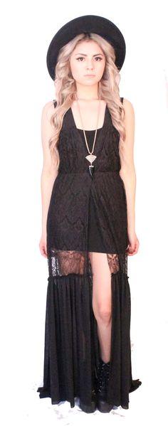 Lace and Mesh Sheath Dress. on Etsy, $89.00